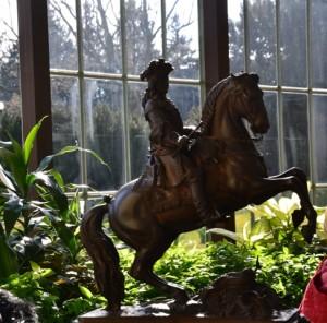 Jezdecká socha prince Evžena Savojského (červená bundička ne a ne uhnout :-))