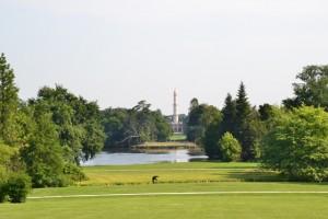 pohled na Minaret od zámku