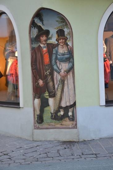 malba na domě Kitzbühel