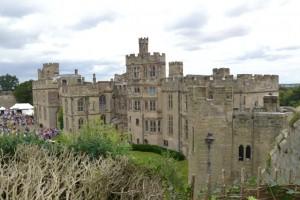 jeden z pohledů na hrad Warwick